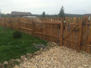 dřevěný štípaný plot, typ-Klasik