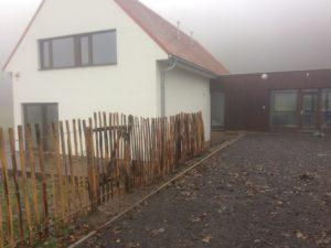 dřevěný plot-vázaný akát 150cm